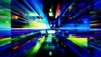 Een doolhof van hoge energie lichte strepen