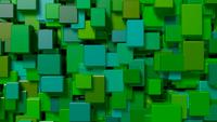 Green Cubes Video Background