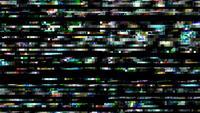 Flimrande rader av kaotisk digital statisk