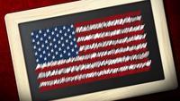 Quadro de bandeira americana