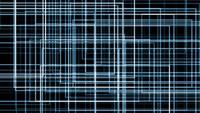 Eine blaue komplexe Gitterformation