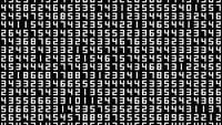 Un écran de données de nombres