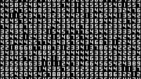A Data Screen Of Numbers