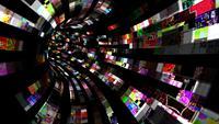 Um túnel de fluxo caótico de dados