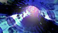 Um túnel digital de fios de luz