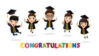 Kids action Diploma certificate and congratulations.
