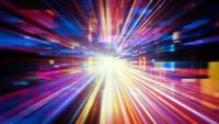 Abstração de luz de tecnologia futurista
