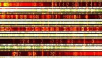 Futuristic Data Ticker With Rows Of Numbers And Light Effects