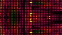 Les carrés abstraits scintillent et décalent