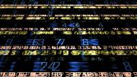 Numerischer Ticker für futuristische Technologie