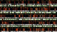 Futuristischer Technologiedatenticker