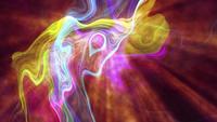 Futuristische Regenbogen-Netzstreifen