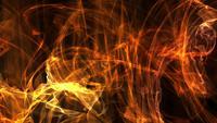 Bewegungshintergrund, der in goldene Feuerkraft Energie schwebt