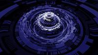 Animation en boucle 3D Blue HUD de science-fiction futuriste