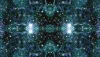 Caleidoscopio de viaje espacial de campo estelar