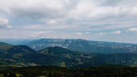 Panoramic Flight Over the Mountains and Hills
