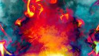 Kleurrijke Artsy Flames Achtergrond