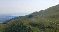 Drone Flying to the Hills and Mountain