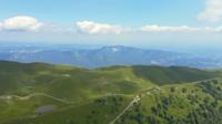 Vue aérienne de Monte Baldo, Lessinia, Italie