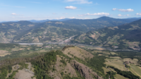 Flying over the Mountains and Hills