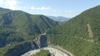 Carretera de montaña, Val Trebbia, Italia