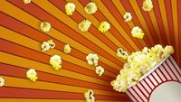 Abstrakt popcornbakgrund