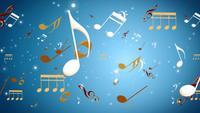 Fond de note de musique