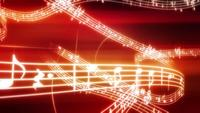 Line of musical notes background