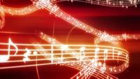 Ligne de fond de notes de musique