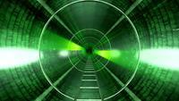 Fond de tunnel vert