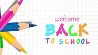 Welcome Back to School With Colorful Pencils.