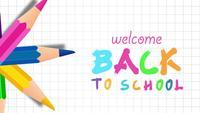 Bienvenue à l'école avec des crayons colorés.