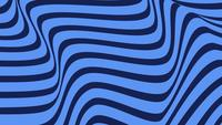 Abstract Blue Background With Rotation of Hypnotic Lines