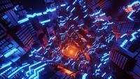 Nahtlose Schleifenbewegung des Metall-Sci-Fi-Tunnels
