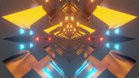 högteknologisk stil tunnelslinga digital animation