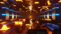 Mouvement de boucle transparente de couloir de science-fiction