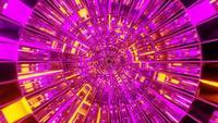 Glanzende roze en gele tunnel lus animatie