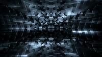 Dunkles futuristisches Muster