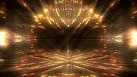Goldener futuristischer Tunnel