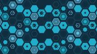 Hexagonal Background with Virus Icon
