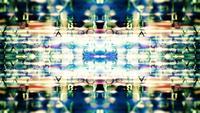 Futuristische gegevens abstractie met tekst en effecten