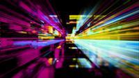 Un labyrinthe de traînées lumineuses numériques
