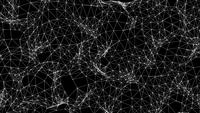 Futuristic Wireframe Fractal Background