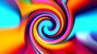 Abstract Vivid Colorful Psychedelic Disco Swirl
