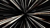 Déplacement des lignes de vitesse de la lumière radiale