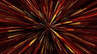 Circuito de distorção estilizado de luzes estelares amarelo-laranja-vermelho
