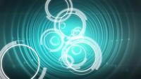 Círculos y túnel digital abstracto