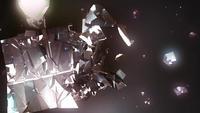 Fondo abstracto cubo roto