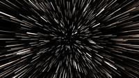 Hiperespacio salto viaje a la velocidad de la luz a través del campo estelar