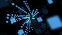 Blue Abstract Dots